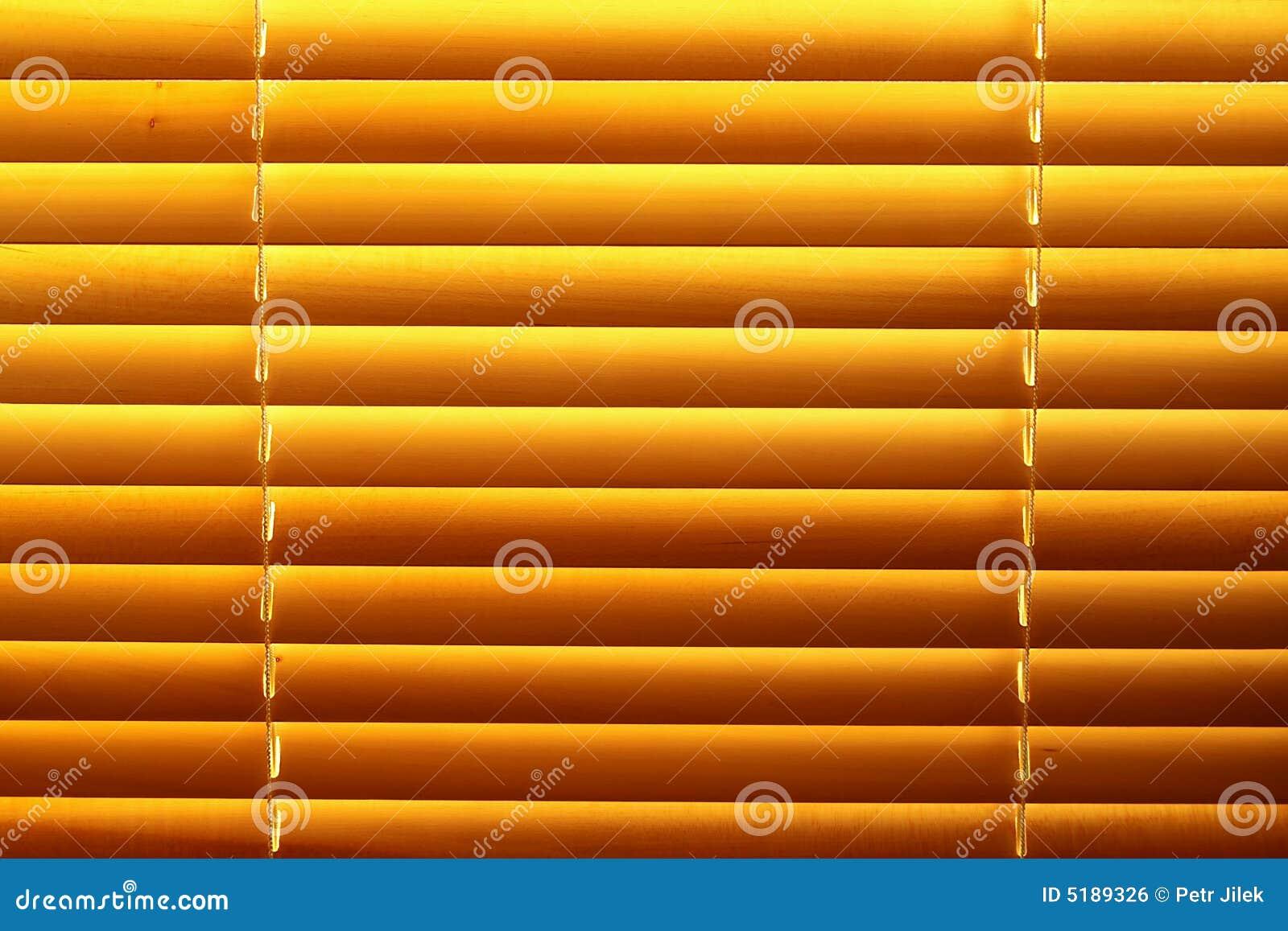 Horizontal yellow jalousie