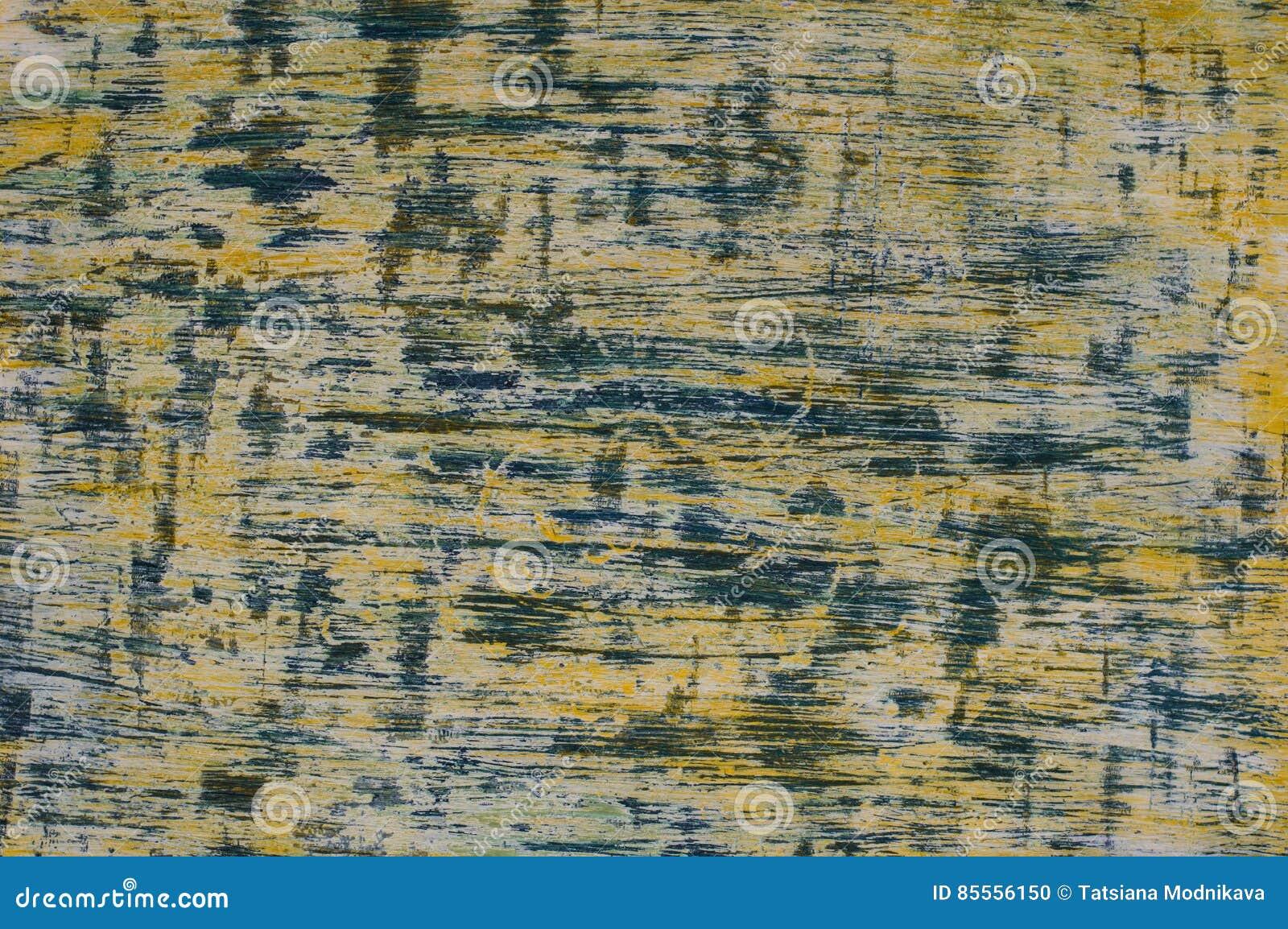 Horizontale gelb-blaue Beschaffenheit handgemacht