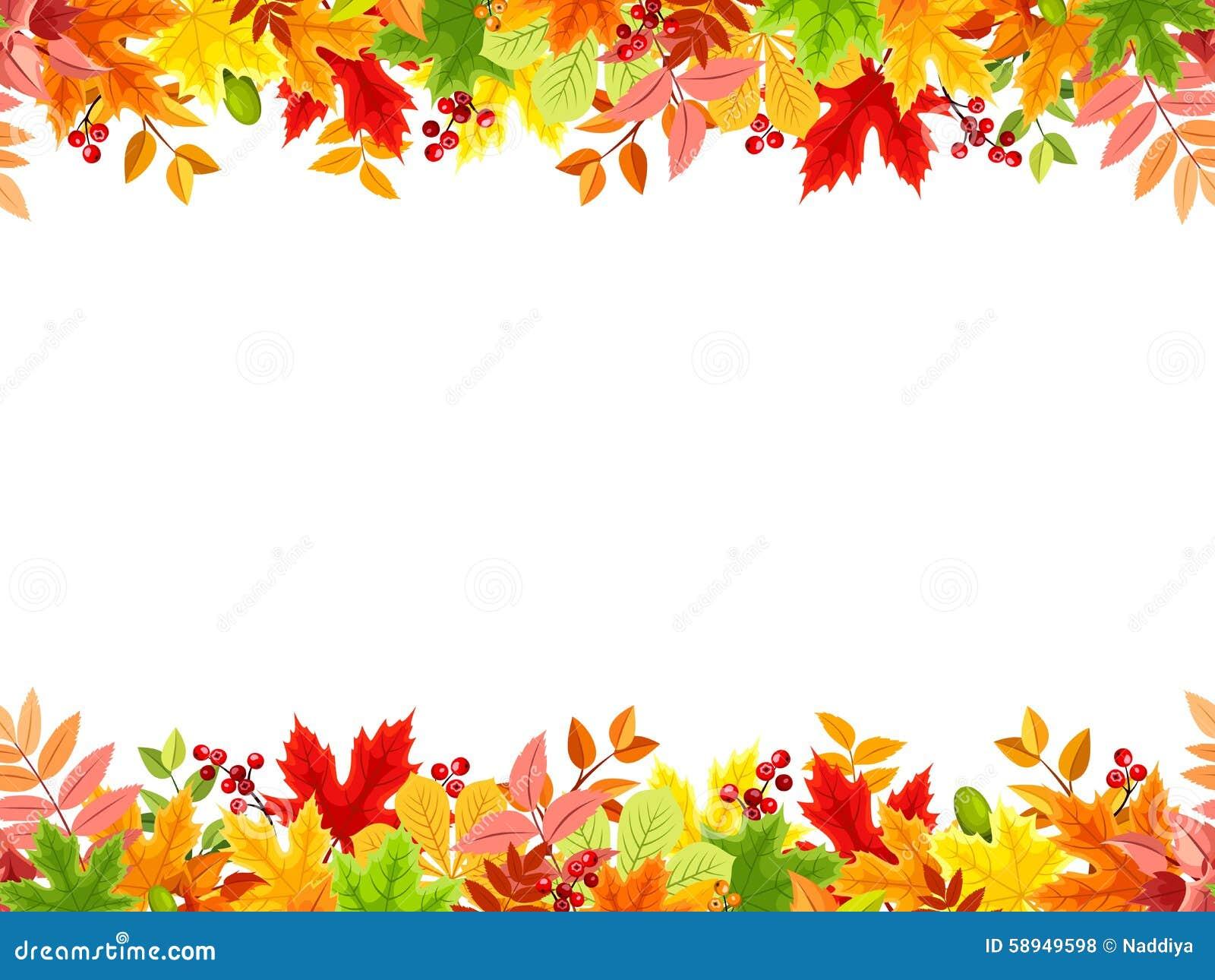horizontaler nahtloser hintergrund mit buntem herbstlaub fall leaf clipart free vector fall leaf clipart free vector