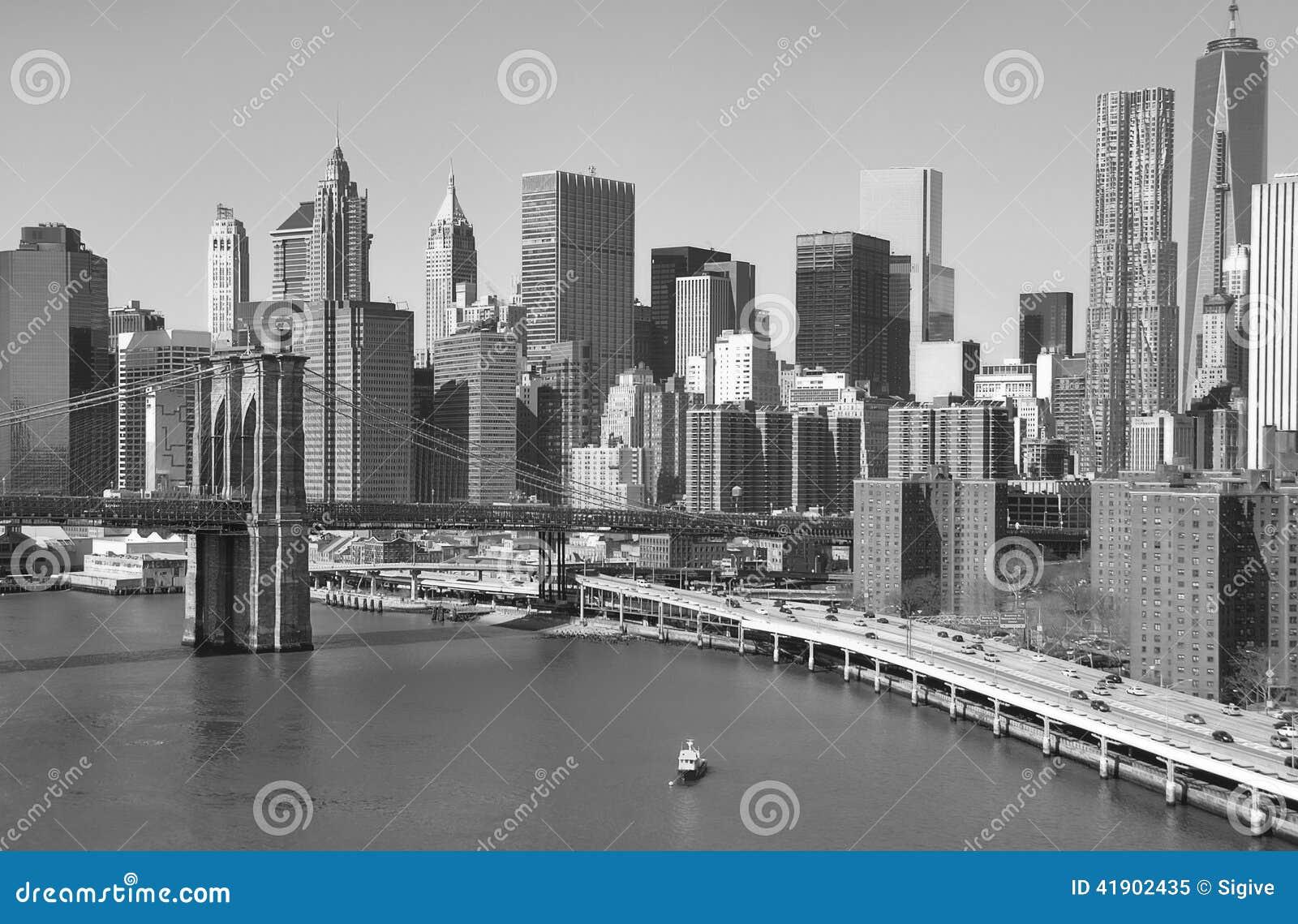 Horizonte céntrico de Manhattan