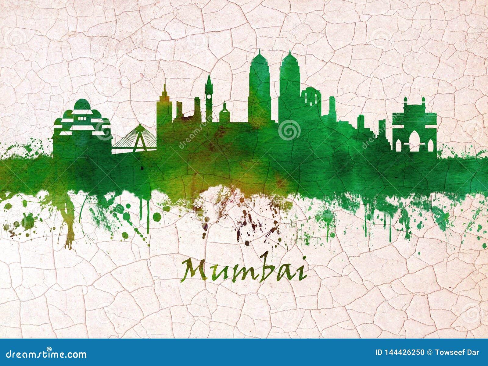 Horizonte de Bombay la India