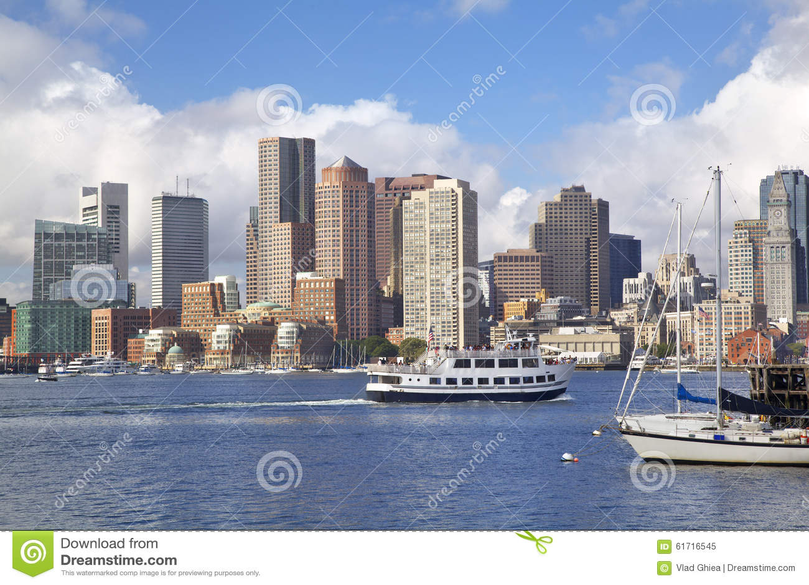 Horizonte de Boston, los E.E.U.U.