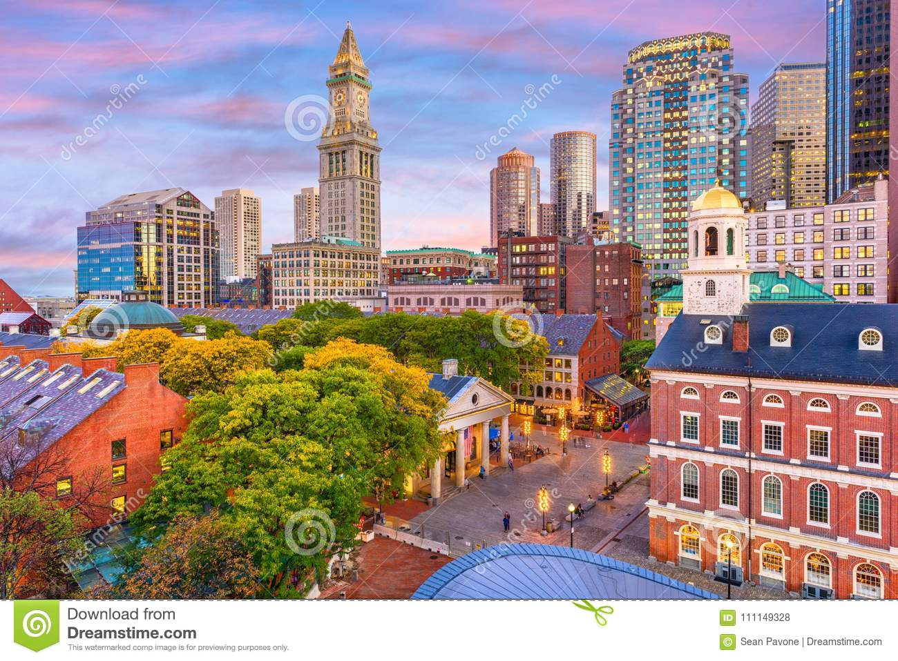 Horizonte de Boston, Massachusetts, los E.E.U.U.