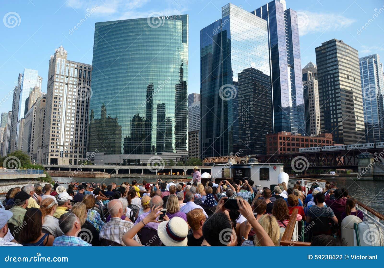 Download Horizonte De Chicago, Los E.E.U.U. Fotografía editorial - Imagen de nubes, oficinas: 59238622
