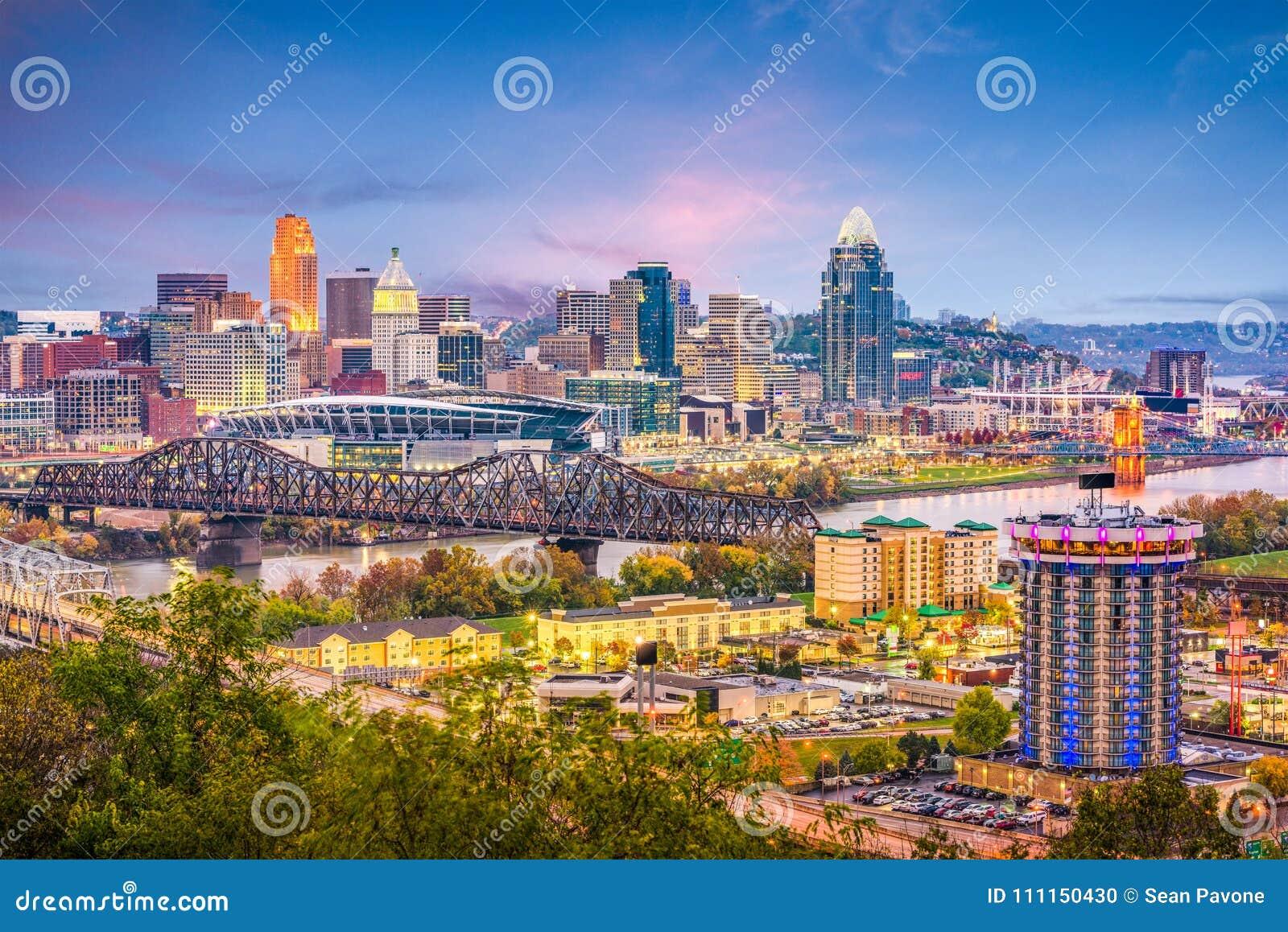 Horizonte de Cincinnati, Ohio, los E.E.U.U.