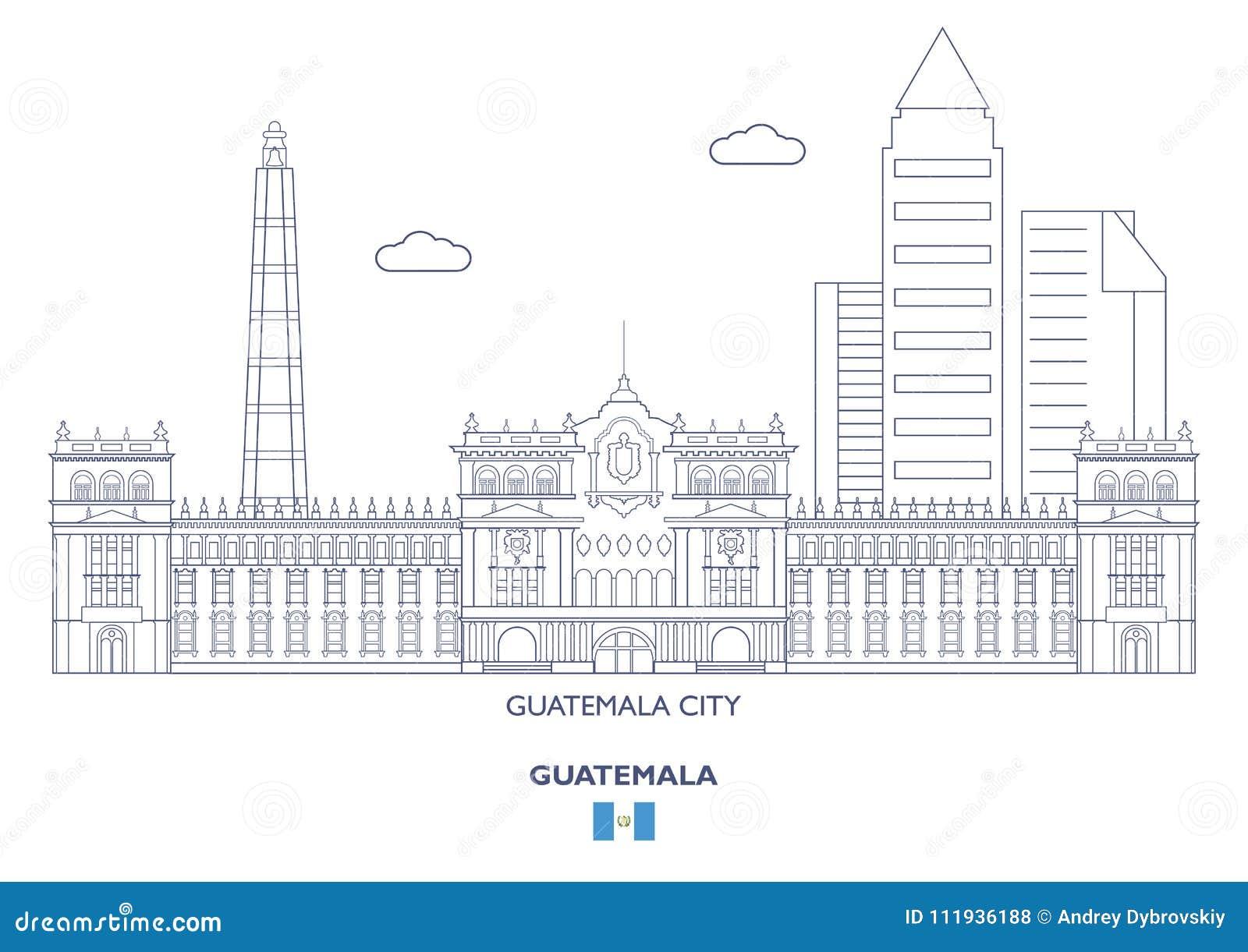 Horizonte de ciudad de Guatemala, Guatemala
