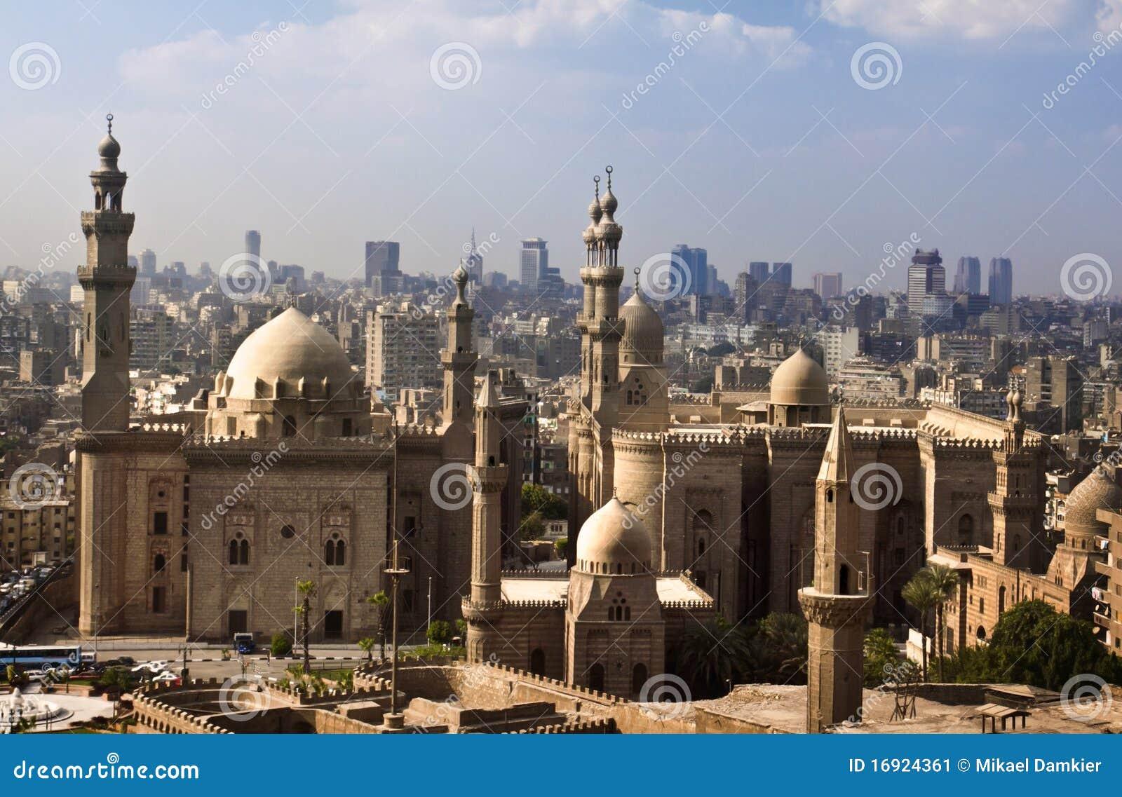 horizonte de el cairo egipto imagen de archivo imagen 16924361. Black Bedroom Furniture Sets. Home Design Ideas