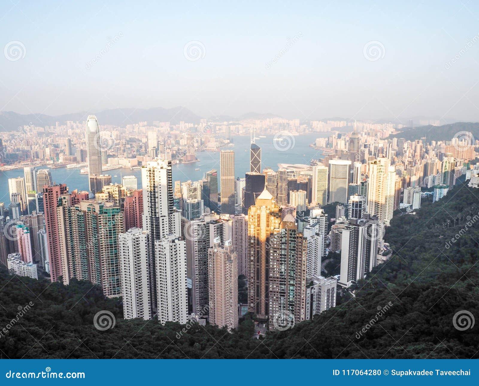 Horizonte de Hong-Kong Visión desde el pico de Victoria