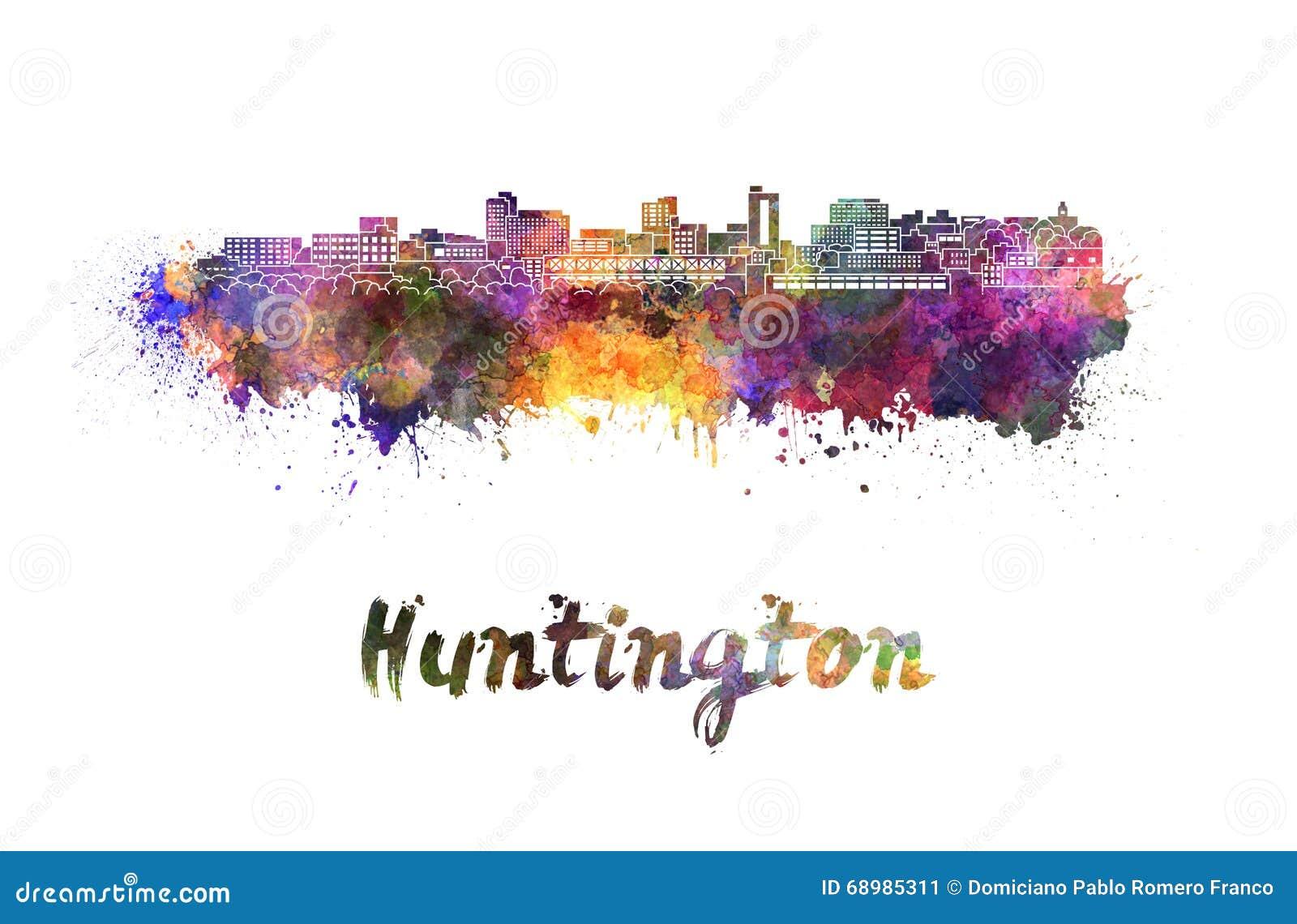Horizonte de Huntington en acuarela