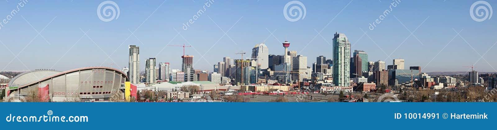 Horizonte de la ciudad, Calgary, Alberta, Canadá