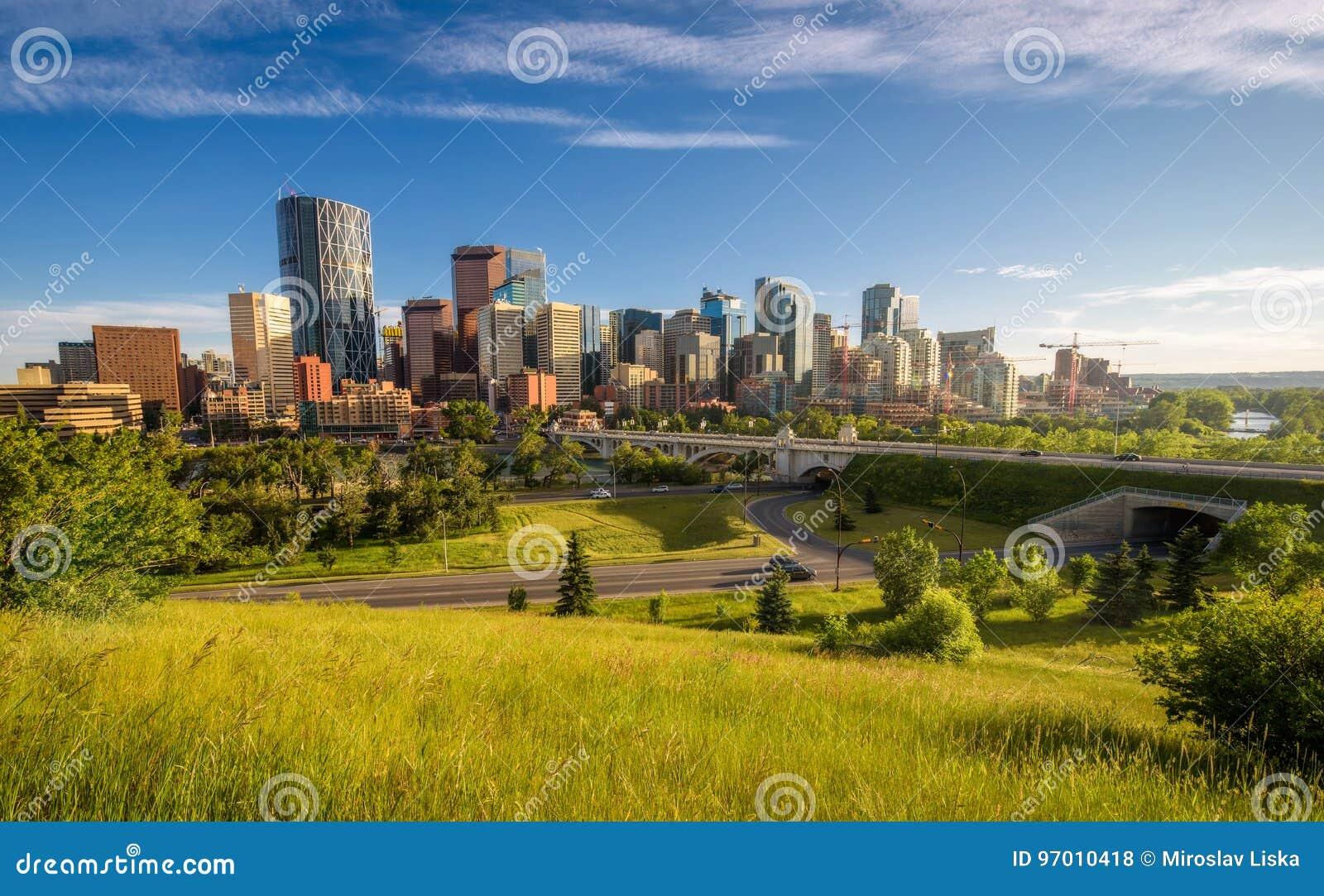 Horizonte de la ciudad de Calgary, Canadá