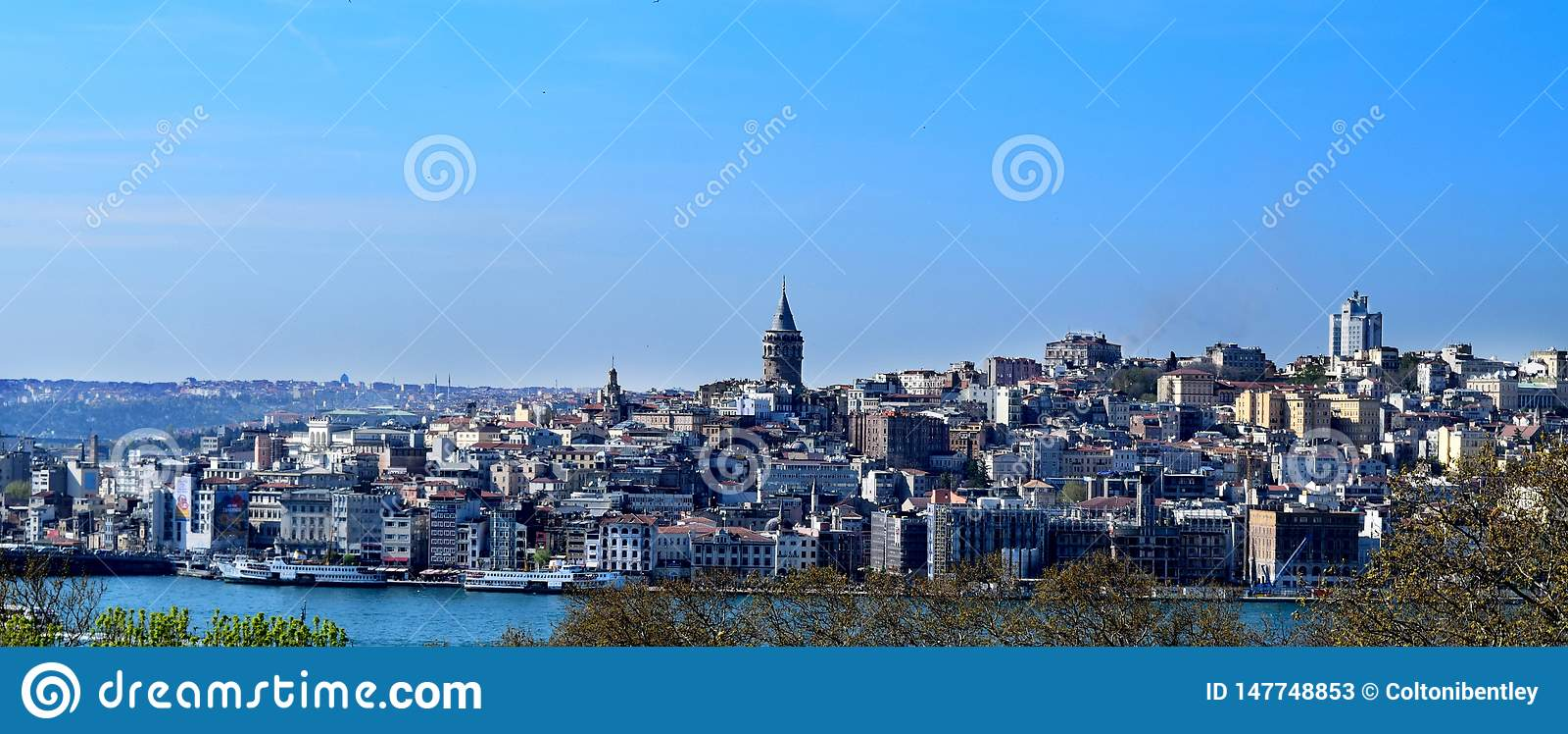 Horizonte de la ciudad del lado europeo de Estambul