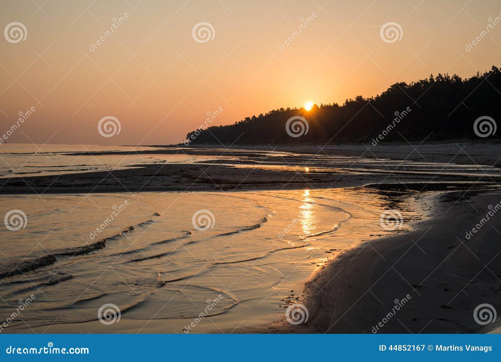 Horizonte de la playa con la arena y la perspectiva