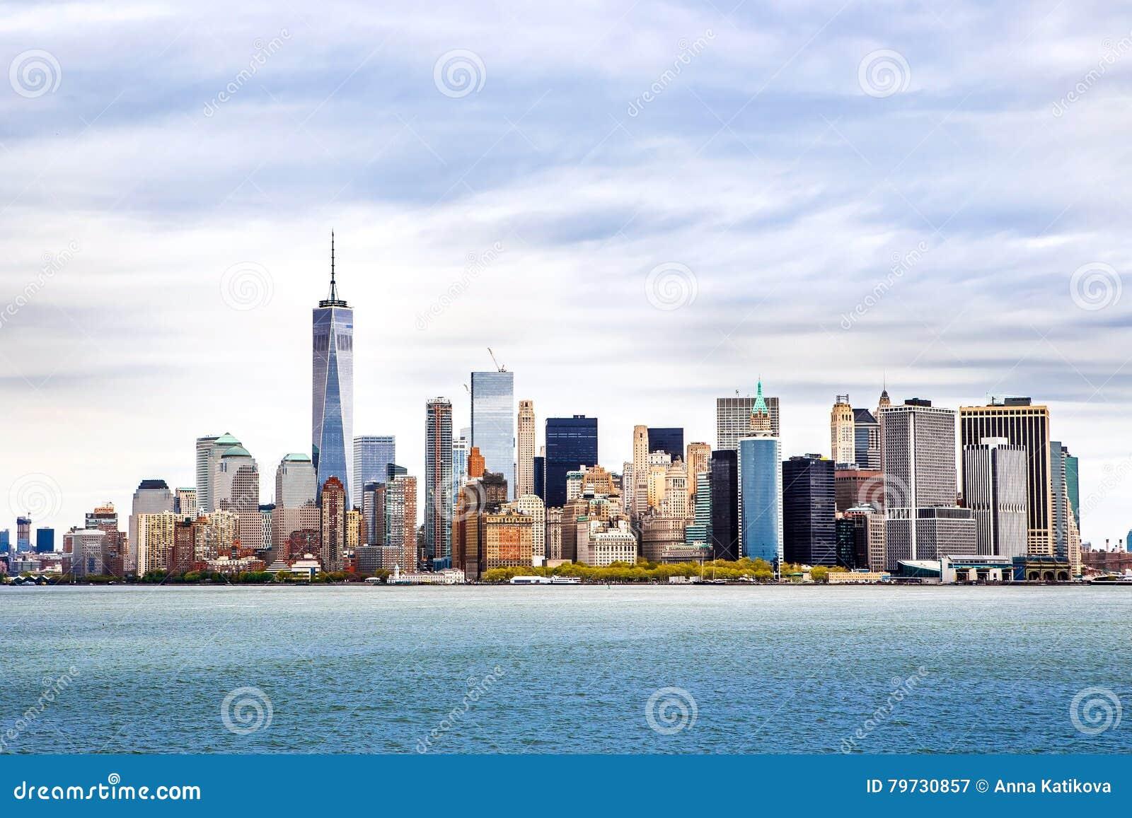 Horizonte de Manhattan del panorama de New York City