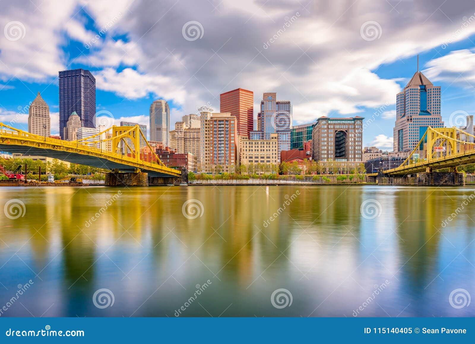 Horizonte de Pittsburgh, Pennsylvania, los E.E.U.U.