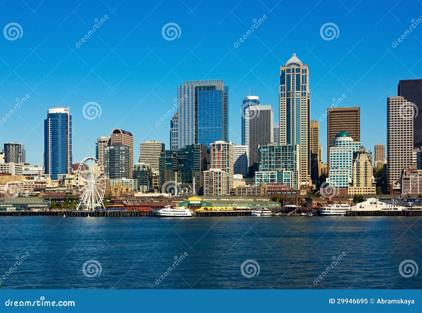Horizonte de Seattle, estado de Washington