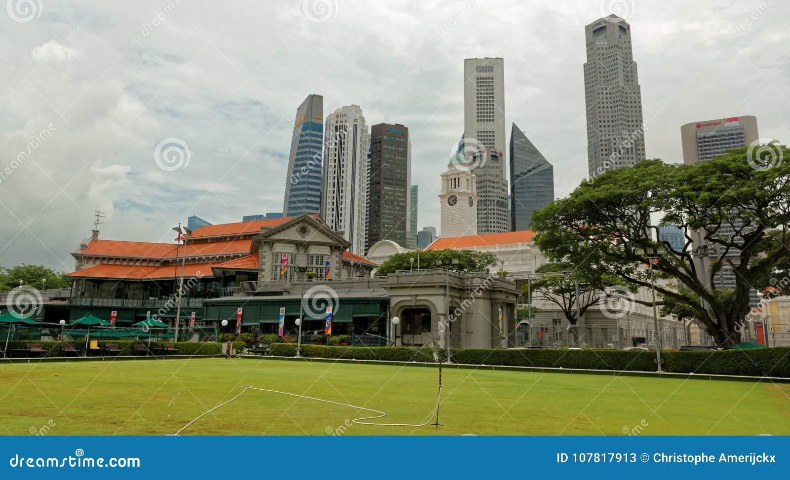 Horizonte de Singapur del club del grillo de Singapur