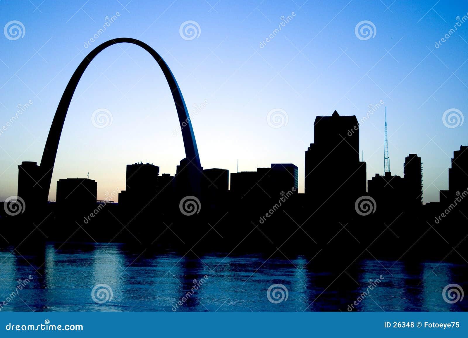 Download Horizonte de St. Louis foto de archivo. Imagen de missouri - 26348