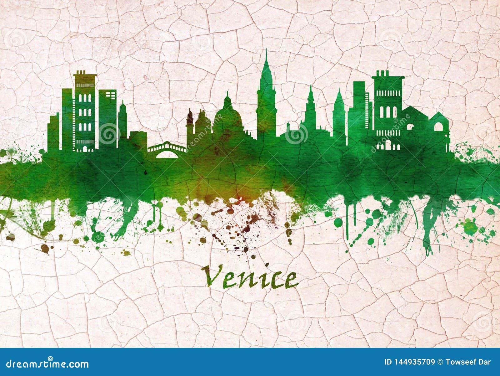 Horizonte de Venecia Italia