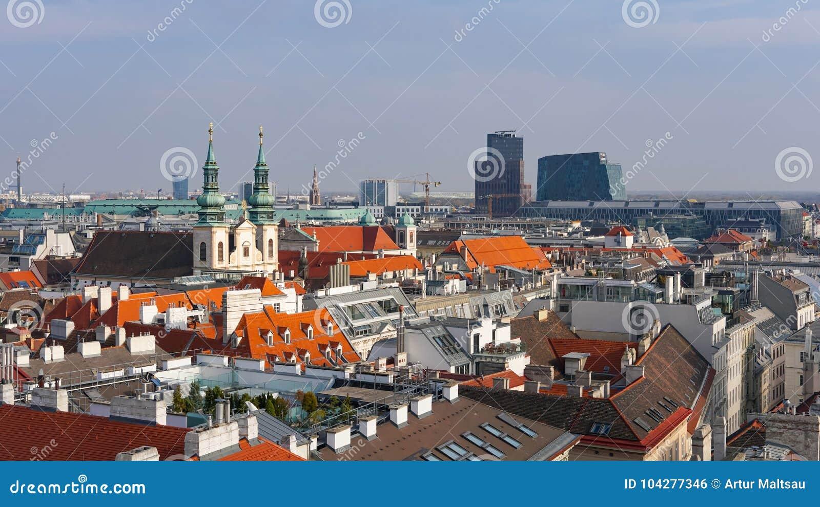 Horizonte de Viena, Austria Vista aérea de Viena austria Viena Wien es la ciudad capital y más grande de Austria, y uno de los 9