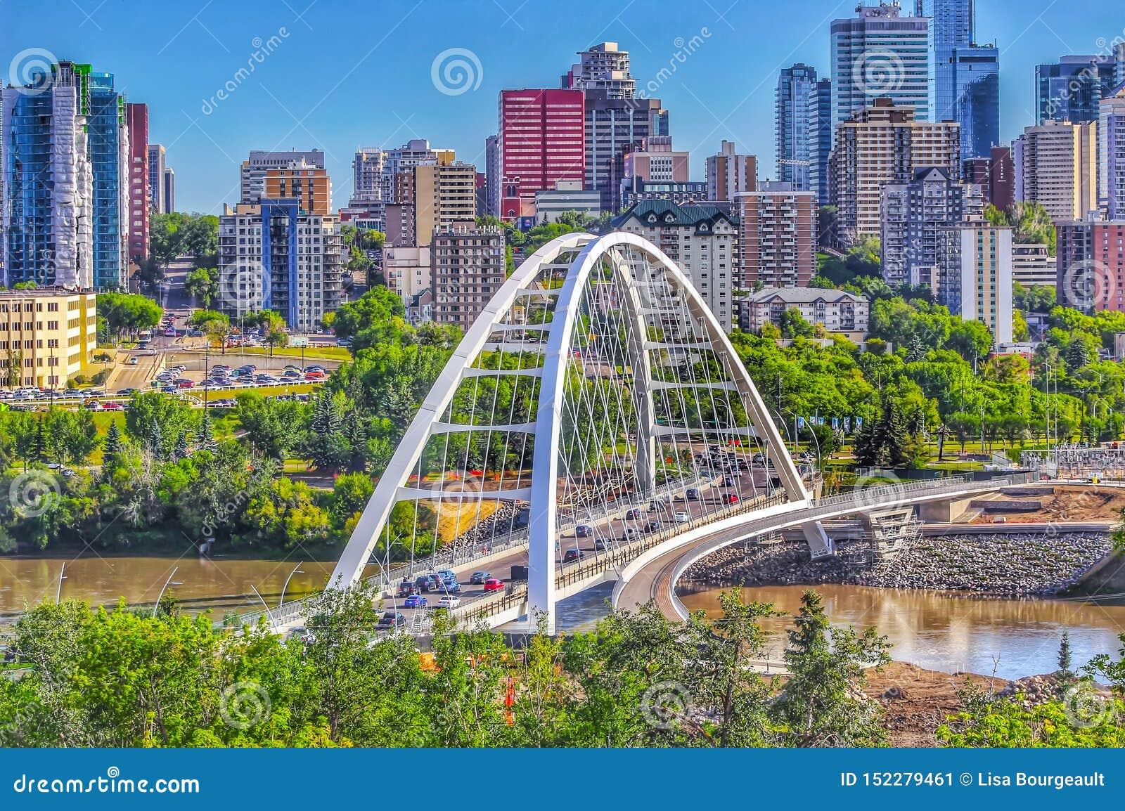 Horizonte panorámico de Edmonton