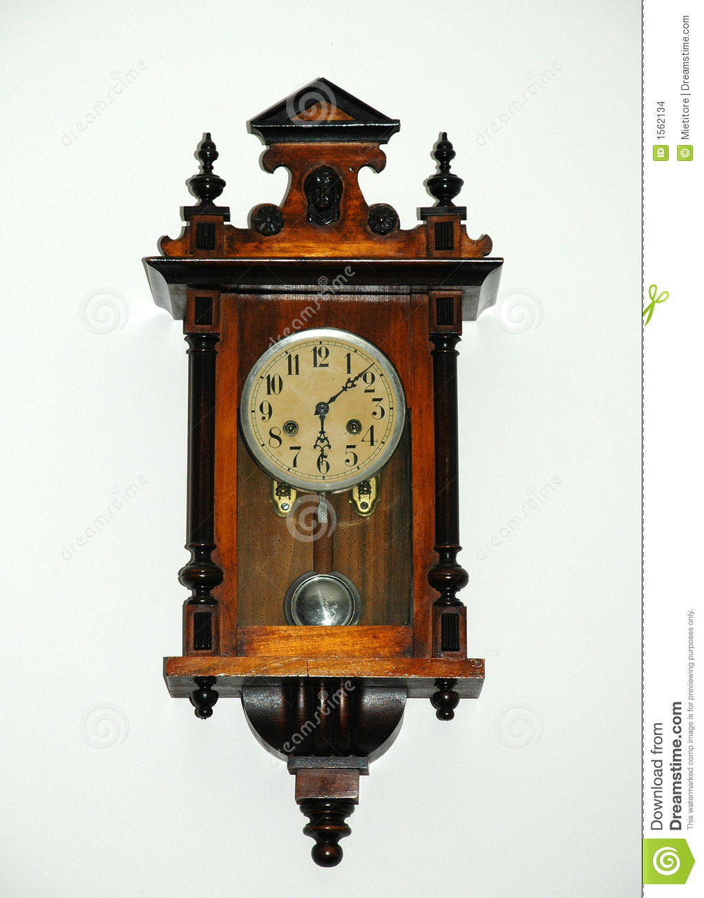 horloge 1900 de pendule images stock image 1562134. Black Bedroom Furniture Sets. Home Design Ideas