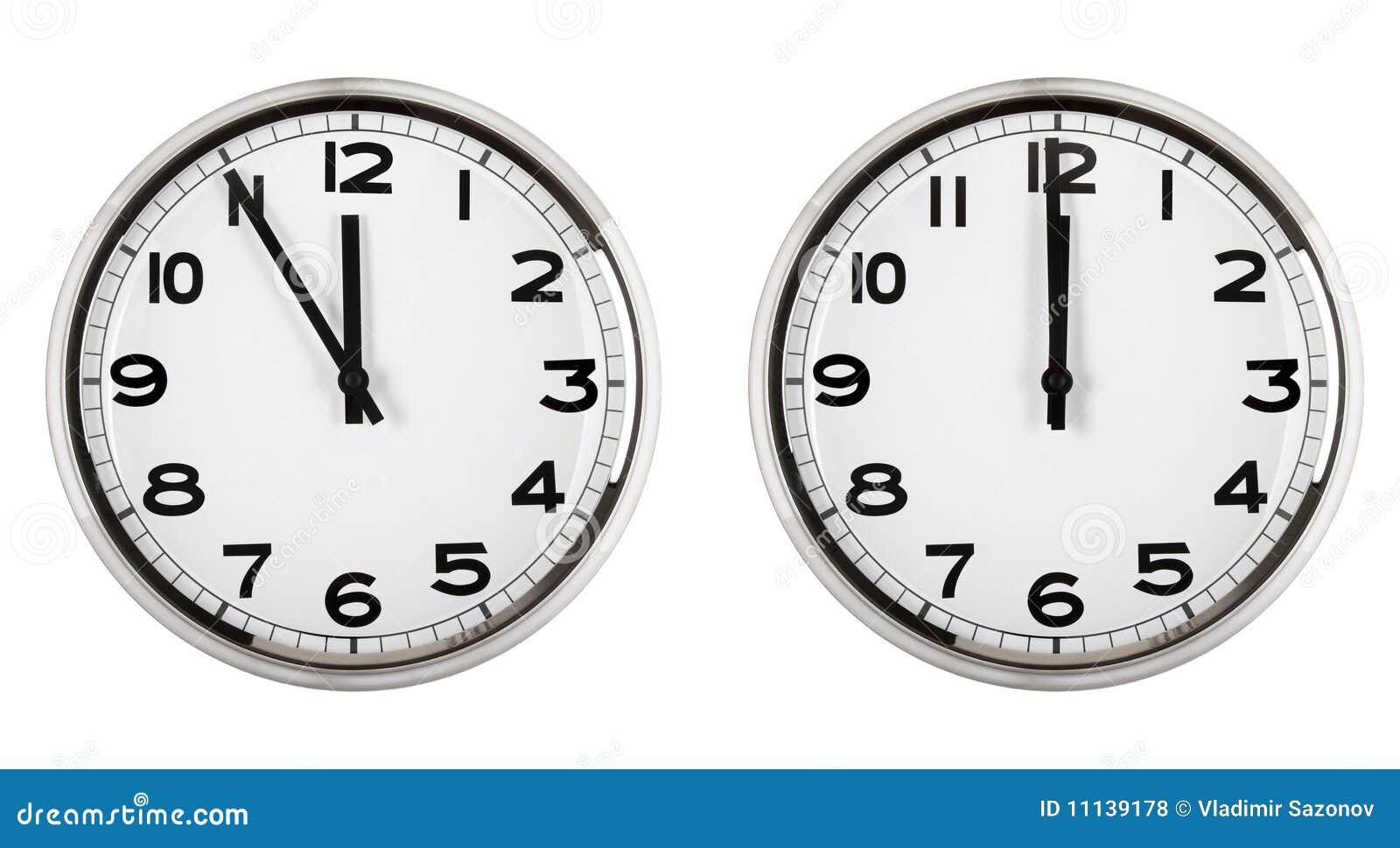 Horloge affichant le temps environ douze. an neuf.
