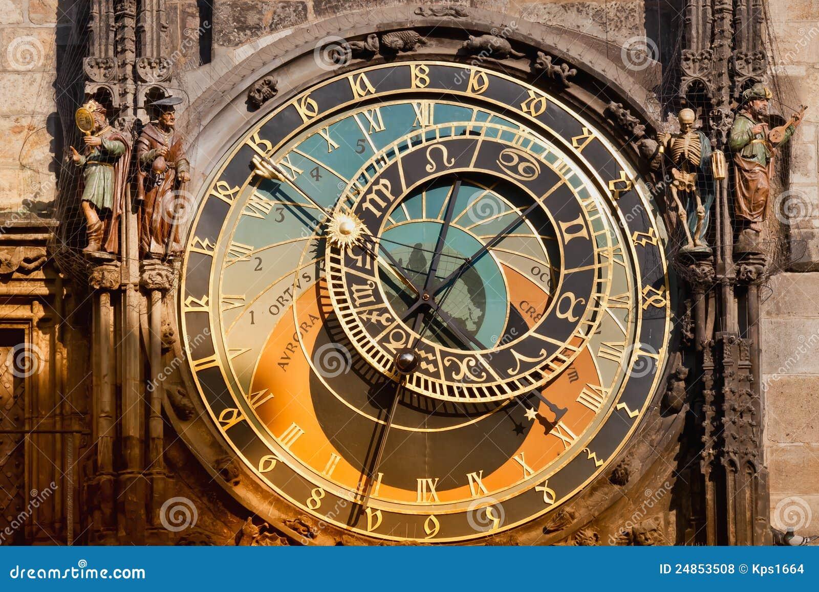 horloge astronomique de prague orloj photo stock image 24853508. Black Bedroom Furniture Sets. Home Design Ideas
