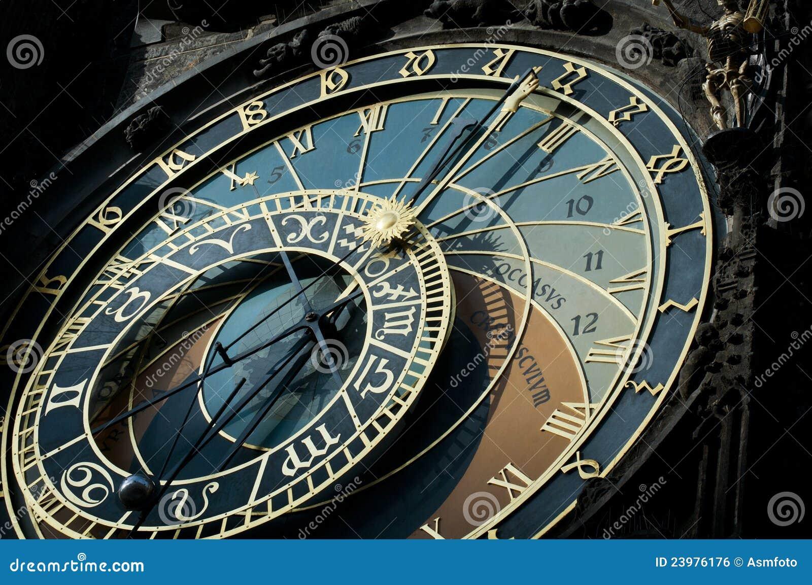 horloge astronomique prague signe de zodiaque image libre de droits image 23976176. Black Bedroom Furniture Sets. Home Design Ideas