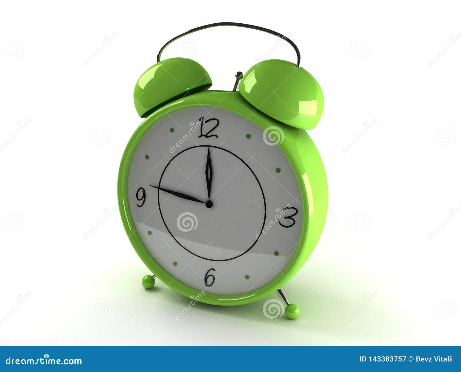 Horloge avec le réveil
