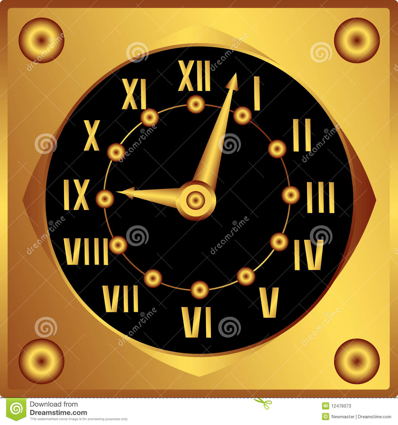 Horloge d corative photos stock image 12476073 - Horloge decorative ...