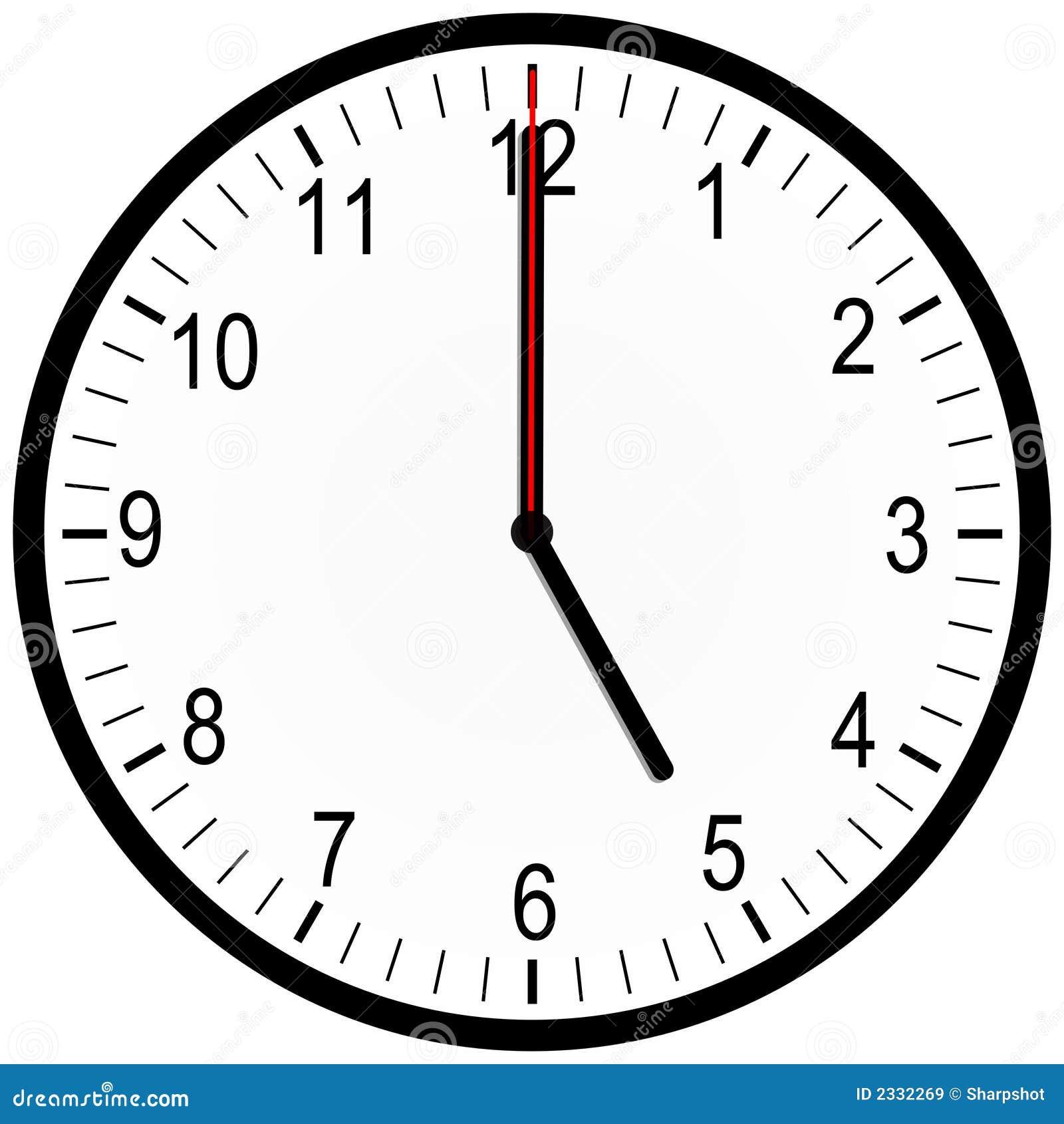 horloge de bureau 5 heures images libres de droits image 2332269. Black Bedroom Furniture Sets. Home Design Ideas