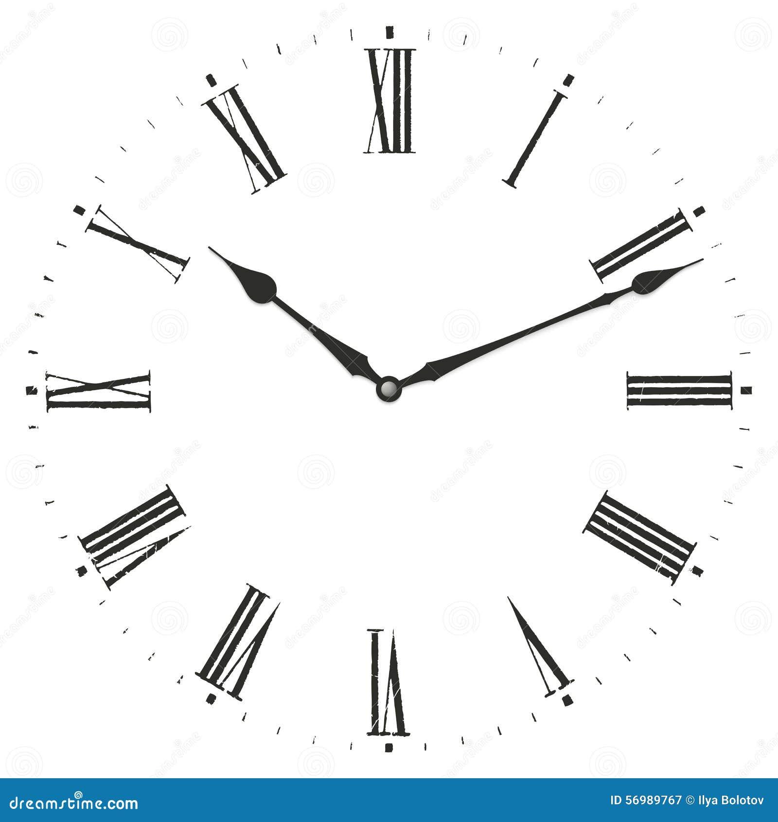 horloge de chiffre romain illustration de vecteur image du alarme 56989767. Black Bedroom Furniture Sets. Home Design Ideas