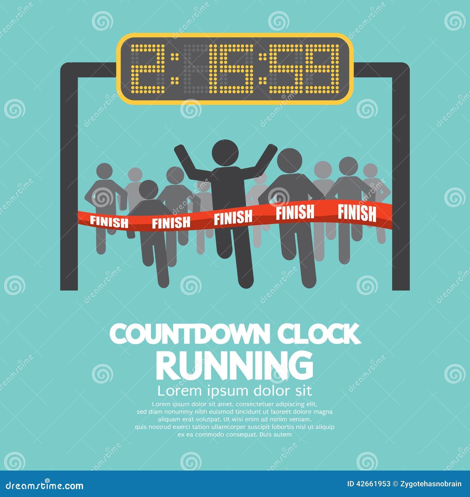 Horloge De Compte Rebours La Ligne D Arrive