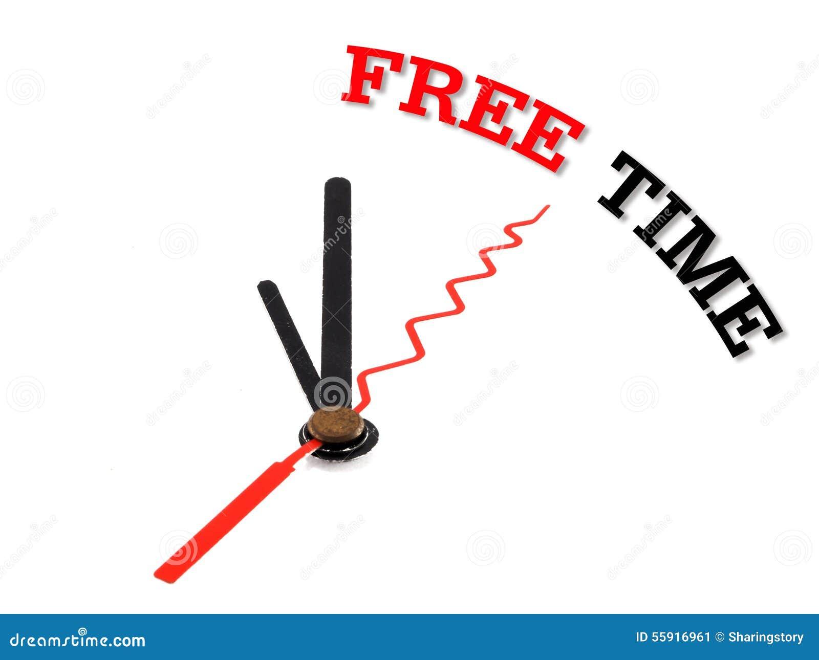 Horloge de concept de temps gratuit d isolement