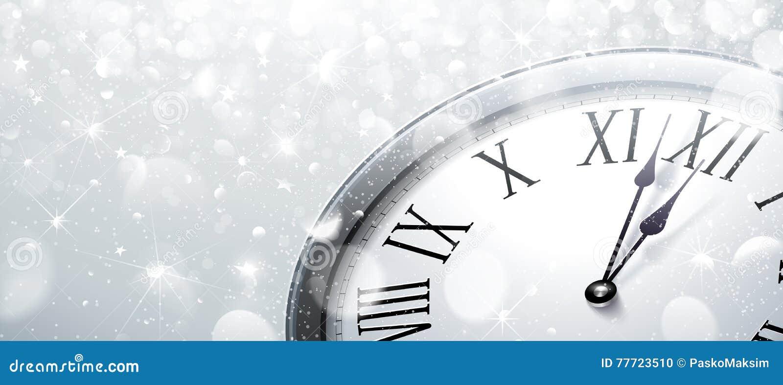 Horloge de douze o la nouvelle année s Ève