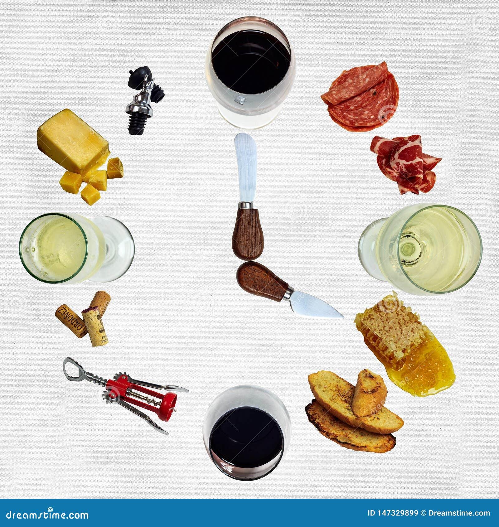 Horloge de ` du vin o