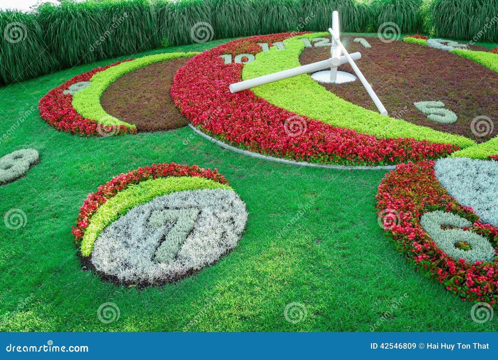 Horloge de fleur de gen ve photo stock image 42546809 for Jardin anglais geneve suisse