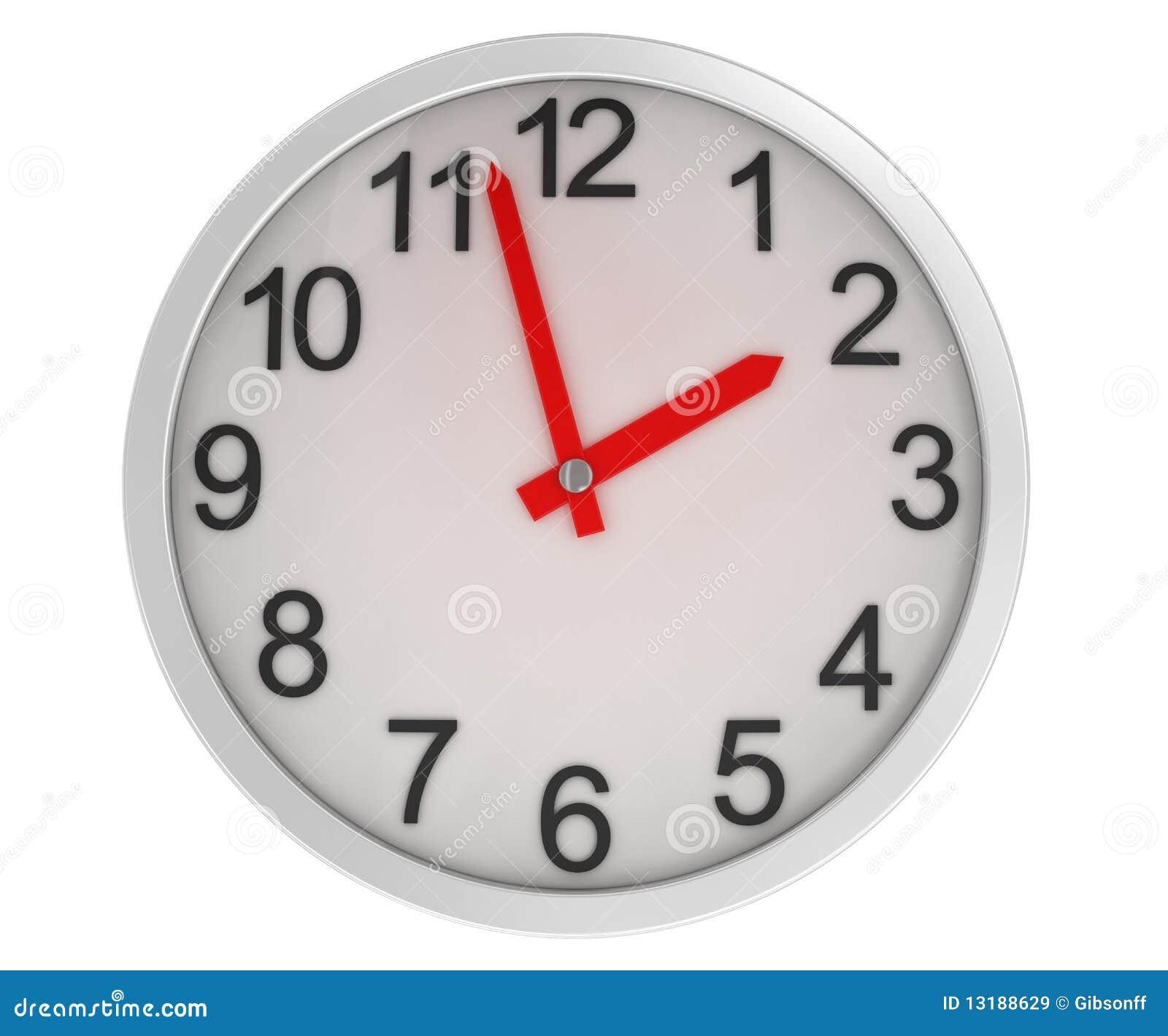 Horloge de plan rapproché