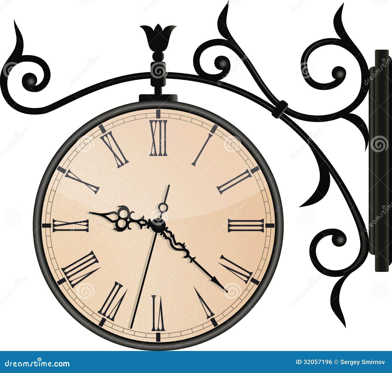 Horloge de rue de vintage. EPS10