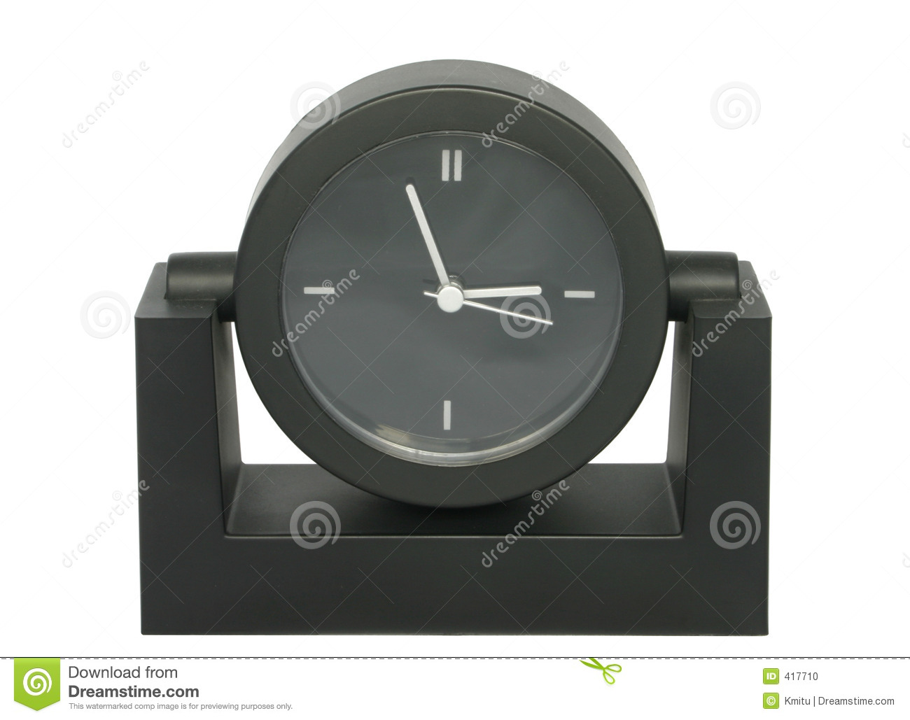 horloge de table simple photo stock image 417710. Black Bedroom Furniture Sets. Home Design Ideas