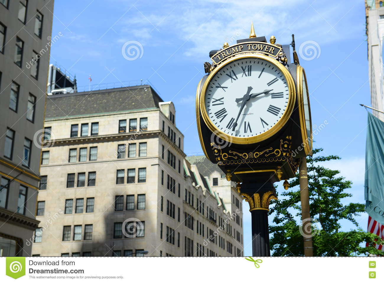Horloge de tour d atout, Manhattan, New York City
