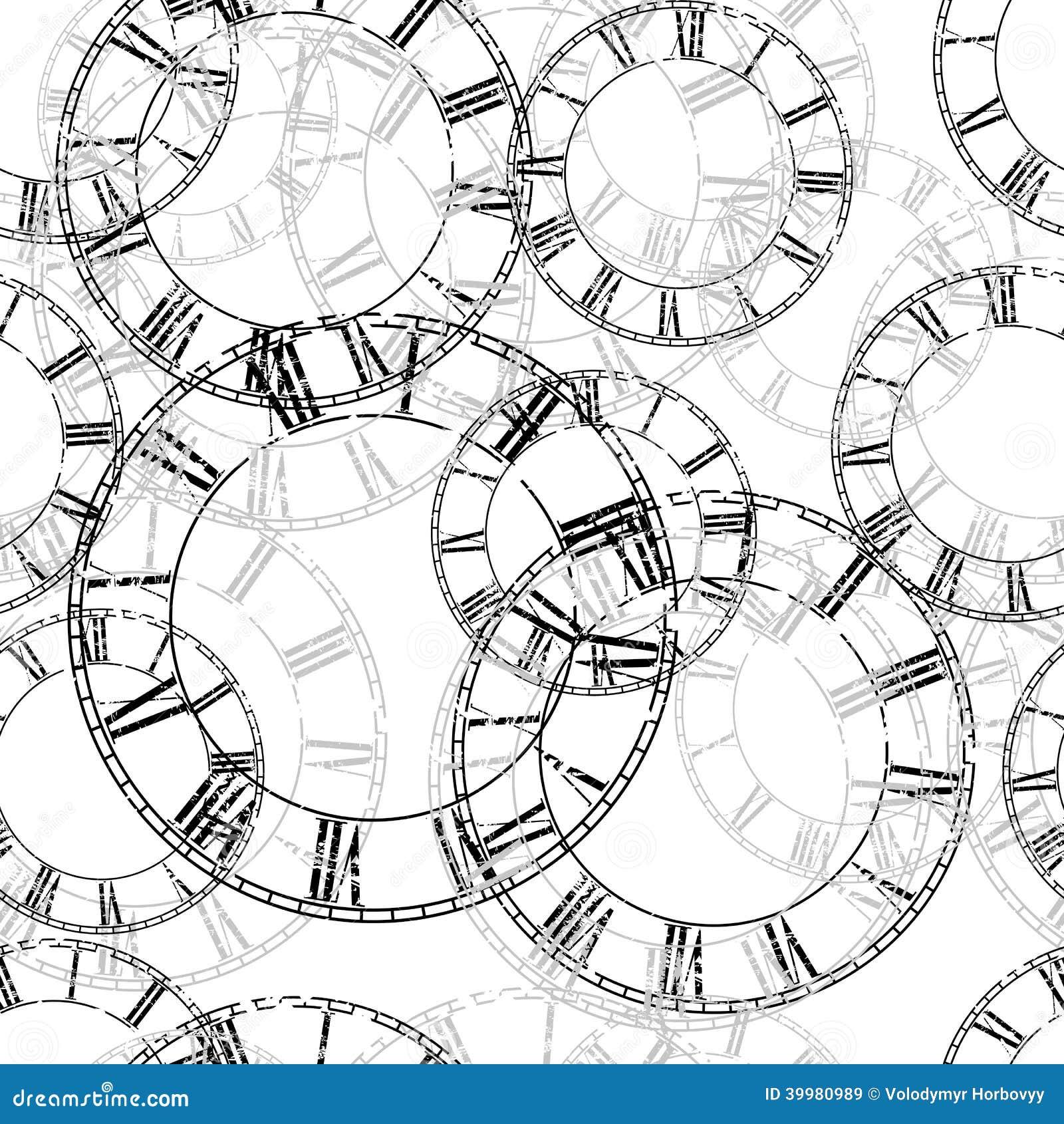 Horloge de vintage de vecteur
