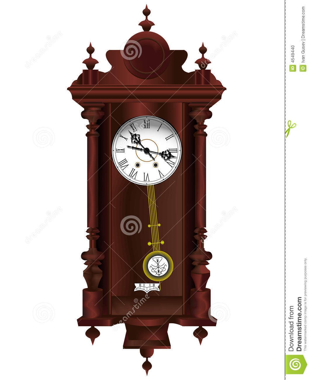horloge en bois ancienne illustration de vecteur illustration du antique 4549440