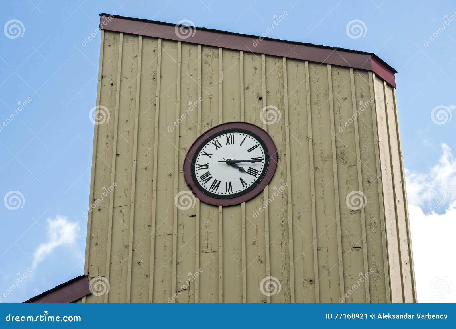 Horloge en bois de tour
