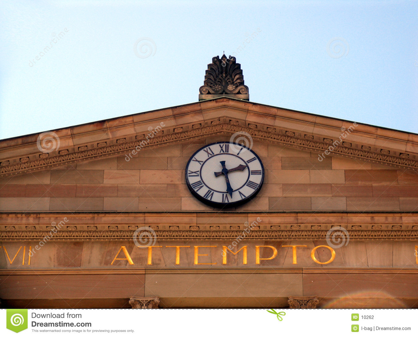 Horloge et inscription d attempto (risque d I il)