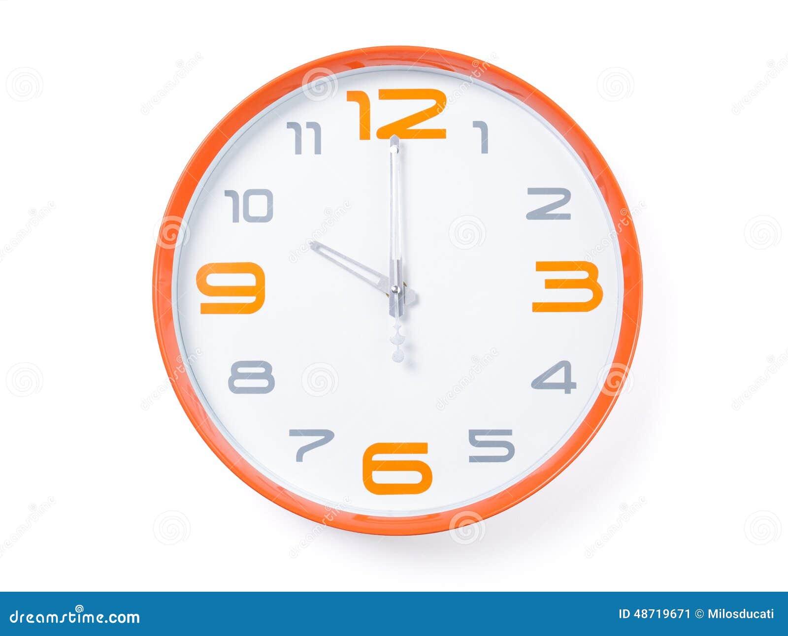 horloge moderne image stock image du num ro int rieur. Black Bedroom Furniture Sets. Home Design Ideas