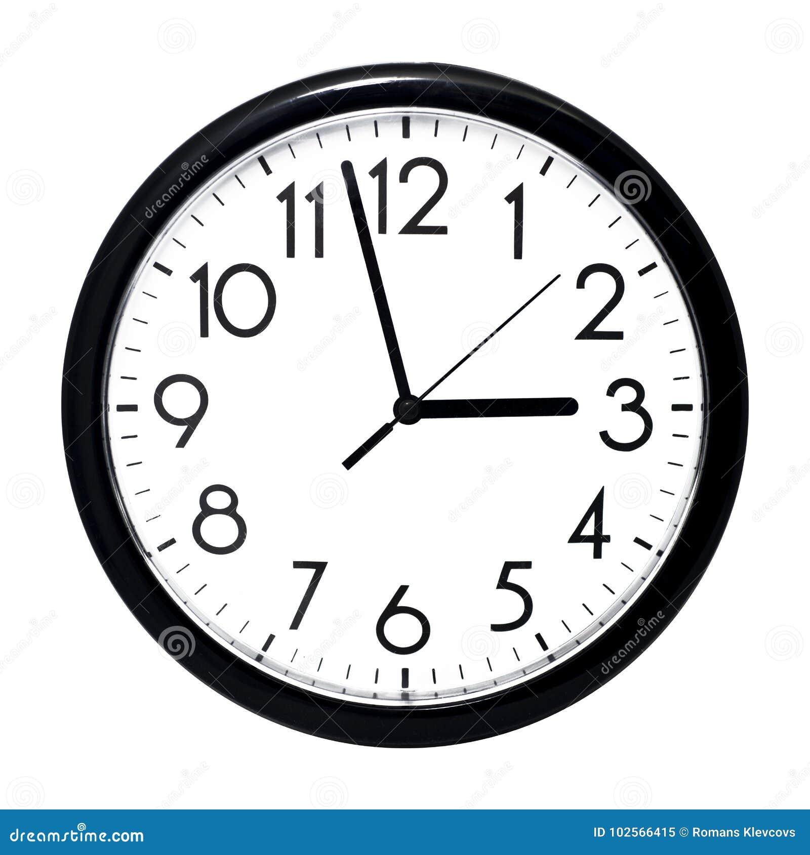 horloge murale blanche d 39 isolement sur le fond blanc image stock image du haut conception. Black Bedroom Furniture Sets. Home Design Ideas