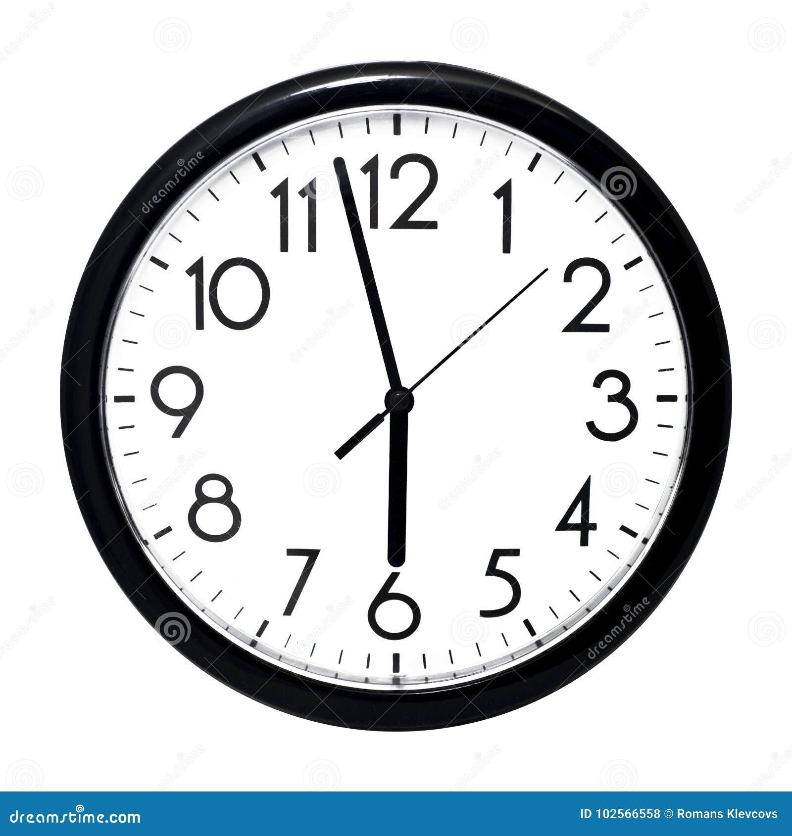 horloge murale blanche d 39 isolement sur le fond blanc photo stock image du neuf dessin 102566558. Black Bedroom Furniture Sets. Home Design Ideas