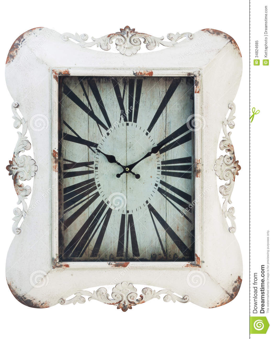 horloge murale de vintage image stock image du d coration 34824685. Black Bedroom Furniture Sets. Home Design Ideas